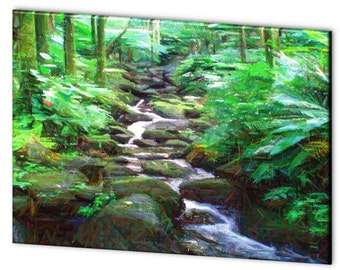 Limited Edition Mountain Stream - Blue Ribbon Winner - Artistic Photography Canvas Print - 10% of Proceeds for Charity