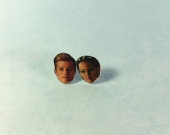 The Hunger Games - Peeta & Katniss Stud Earrings CLEARANCE
