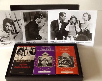 The Films of Cary Grant VHS Box Set w/ Photos