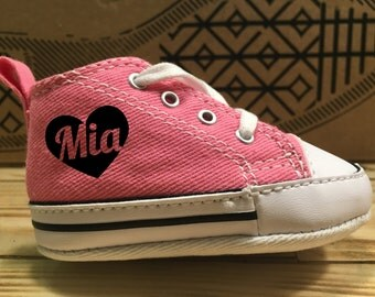 CONVERSE baby Chuck with professional print: heart + your name