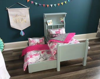 "The Isabelle - Bed w/ Trundle for 18"" Dolls"