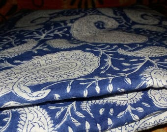 10 Yard 100% Pure Cotton Fabric indian Handmade Block Printed Garment Fabric, Cloth Material Fabric, Cambric Hand Block Print Fabric voile