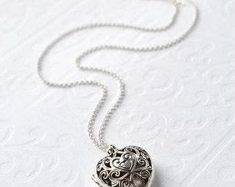 Sterling Silver Vintage Heart Locket
