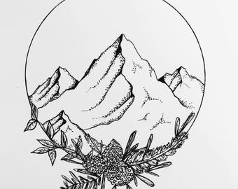Mountain Stationary Set