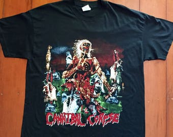 Cannibal Corpse Rock Band Vintage T shirt