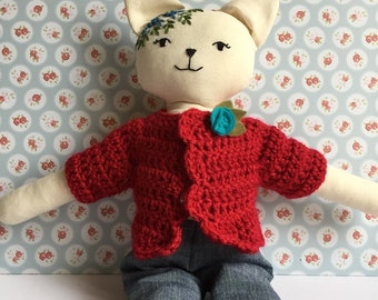 Pussycat doll with Red Sweater