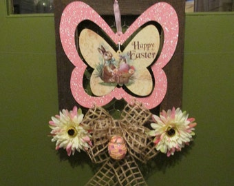 Lovely Unique Easter Door Hanging or Wall Decor for Front Door or Wall Hanging