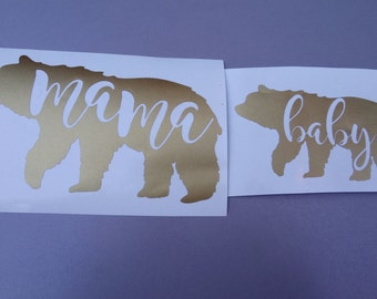 DIY iron on Bear Family decals,mama bear,baby bear,papa bear,sister bear,brother bear.