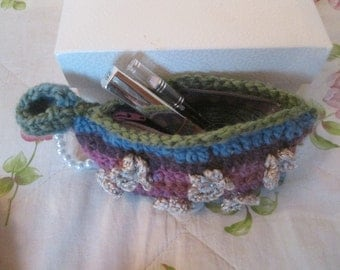 mini purse, flowers and pearls