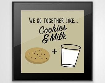 Cookies & Milk Glass Coaster