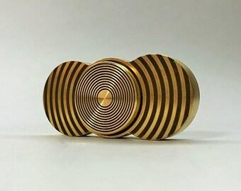 Fingers Spinner brassy, weight 83 grams, laser engraving (Helios-art-33) B-B 2