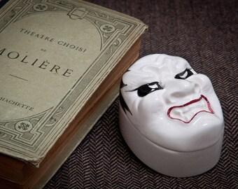 Vintage Taste Setter Sigma Japanese Style Ceramic Trinket Box - Kabuki Mask - Rare – 1980s - KISS