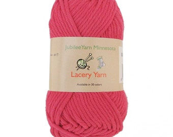 Lacery Yarn 100g - 2 Skeins - 100% Cotton - Rosy Blush - Color 008