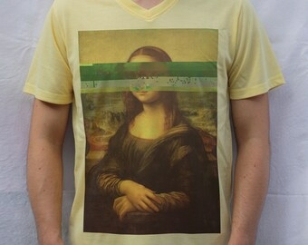 Mona Lisa T shirt, Glitch Design