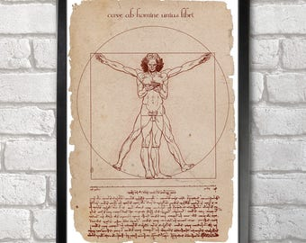 Smart Vitruvian Man Poster Print A3+ 13 x 19 in - 33 x 48 cm  Buy 2 get 1 FREE