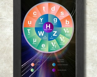 The Standard Model of particle physics Poster Print A3+ 13 x 19 in - 33 x 48 cm  Buy 2 get 1 FREE