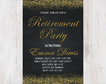 retirement invites template