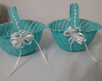 Wedding flower baskets
