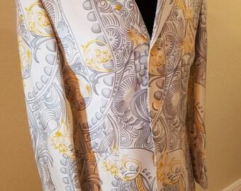 100% silk vintage versace blazer