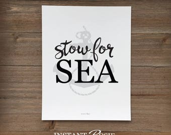 Stow for Sea - Instant download
