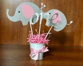 Elephant Center Pieces, elephant baby shower, elephant birthday
