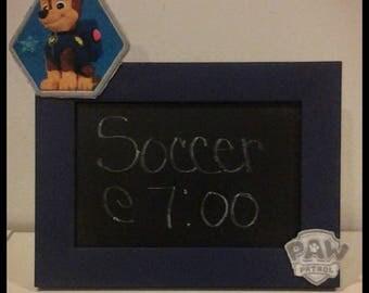 Paw Patrol framed chalkboard, Framed chalkboard, Chalkboard