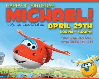 Super Wing Birthday Invitation; printable invitation; Super Wing