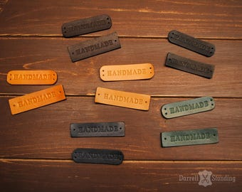 15 Handmade Leather labels Leather brand Personalized leather labels