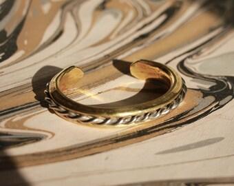 Vintage Bronze Bangle Bracelet