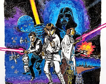 """Dry-Erase """"A New Hope"""" Poster HD Print"""