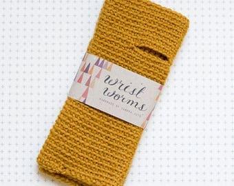 Original Wrist Worms, Wool, Mustard
