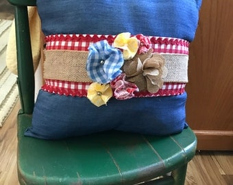 Country themed pillow