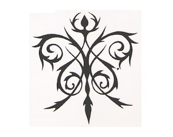 Tribal design temporary tattoo design - 2x2 inch