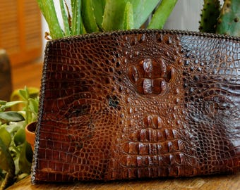Vintage Alligator Clutch