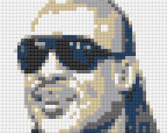 LEGO Custom Art Mosaic - Stevie Wonder