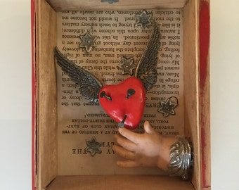 Altar, cigar box, valentine, engagement gift,  anniversary gift.