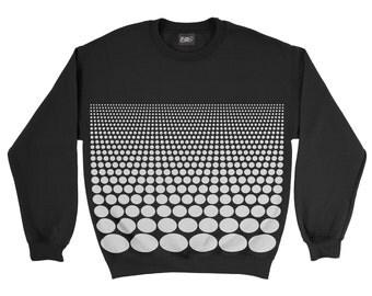 Unisex sweatshirt, hooded sweatshirt, scaling Dots pattern, sweatshirt Hoodie Sweatshirt, men's fashion, graphic, classic, made in italuy