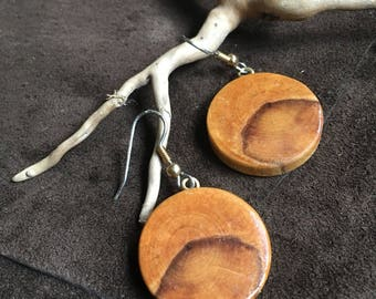 Quebec natural wood earrings