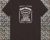 I have a Beautiful Daughter  Daughters Jack Daniels Themed Funny Tshirt Fathers Day Gift