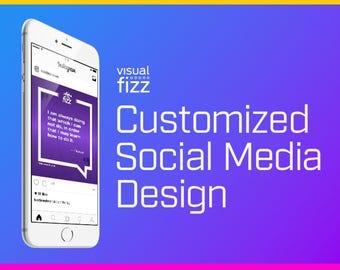 Custom Graphic Design for One Social Media Post