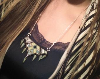 Beads miyuki geometric pattern necklace