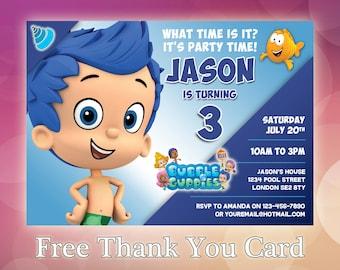 Bubble Guppies Invitation / Bubble Guppies Birthday / Bubble Guppies Invite / Bubble Guppies Birthday Party / Bubble Guppies Printable/ BG06