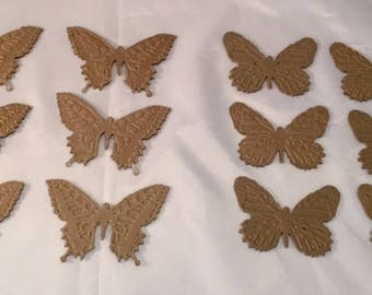 Tim Holtz Die Cuts * Butterfly Duo * Embossed Chipboard * Sizzix 660236*