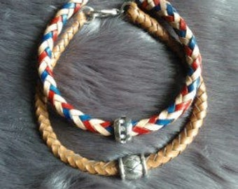 Leather Braided Bracelet of 8 Strands