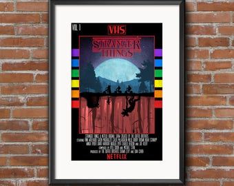Stranger Things VHS Style Poster Print - High Quality A3 250gsm Print Poster