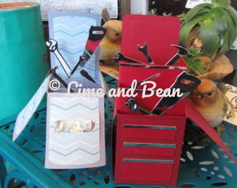 Dad Box Card and Tool Chest Box Card SVG