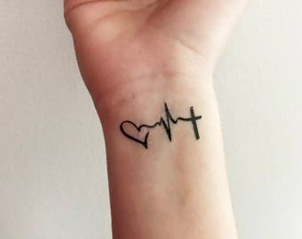 Love Hope Faith - Temporary Tattoo
