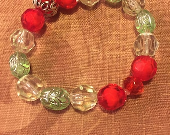 Red and Light Green Bracelet