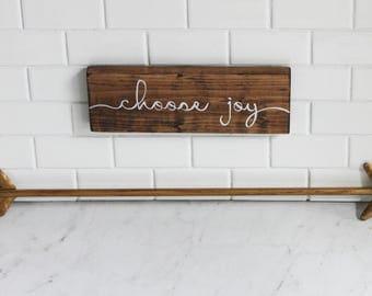 Choose joy, wood sign, housewarming gift, home decor, wall decor, mother's day, rustic, farmhouse
