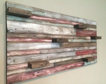 Rustic and distressed wood art piece